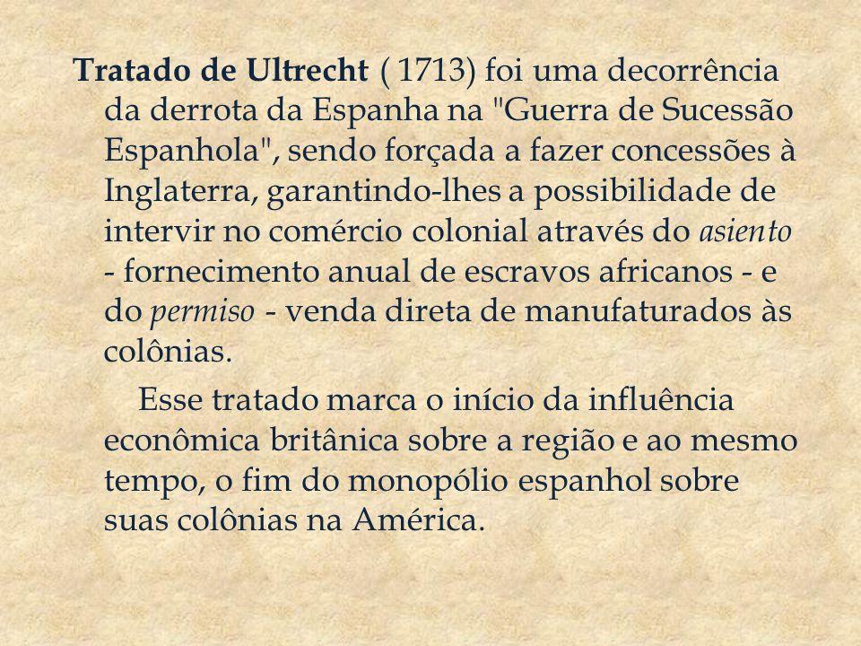 Tratado de Ultrecht ( 1713) foi uma decorrência da derrota da Espanha na