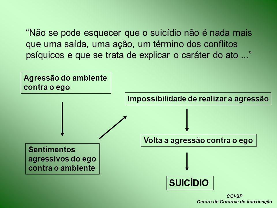 Não se pode esquecer que o suicídio não é nada mais que uma saída, uma ação, um término dos conflitos psíquicos e que se trata de explicar o caráter d