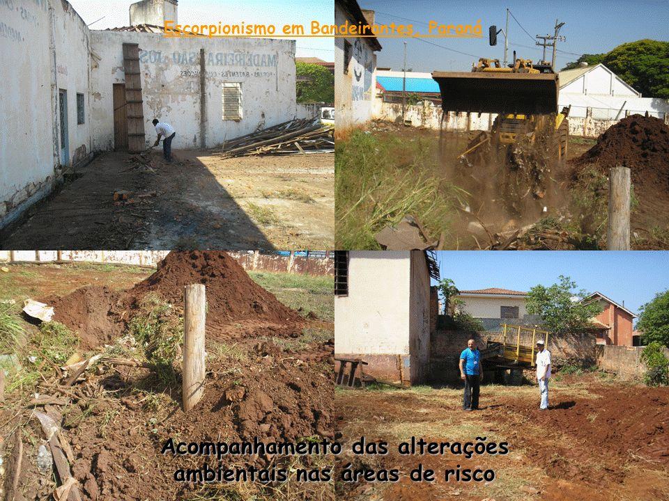 Acompanhamento das alterações ambientais nas áreas de risco Escorpionismo em Bandeirantes, Paraná