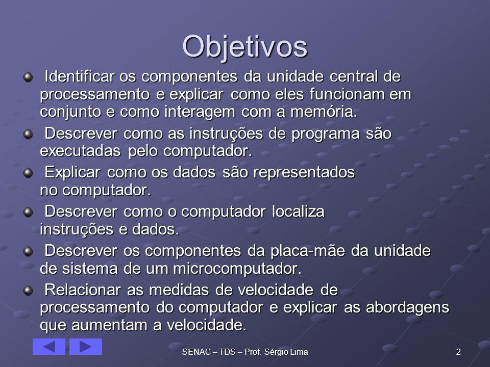 13SENAC – TDS – Prof.Sérgio Lima Tempo de Instrução Também chamado de I-time.