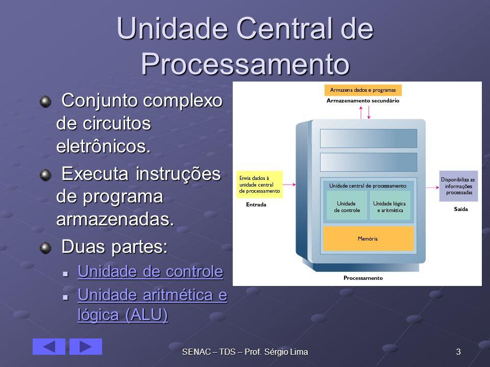 24SENAC – TDS – Prof.Sérgio Lima EBCDIC Sigla de Extended Binary Coded Decimal Interchange Code.