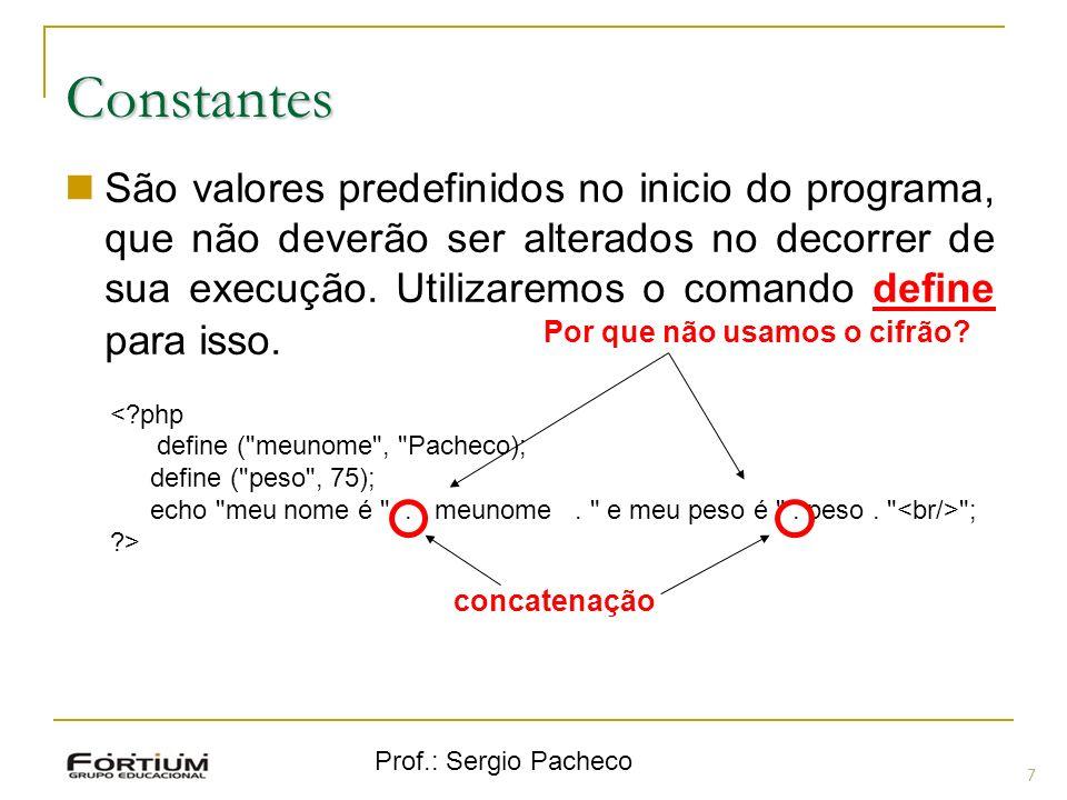 Prof.: Sergio Pacheco Estruturas de Repetição em PHP Comandos de Repetição: while (exp) { comandos } while (exp): comandos endwhile; 18 Sintaxe alternativa Executa de for True
