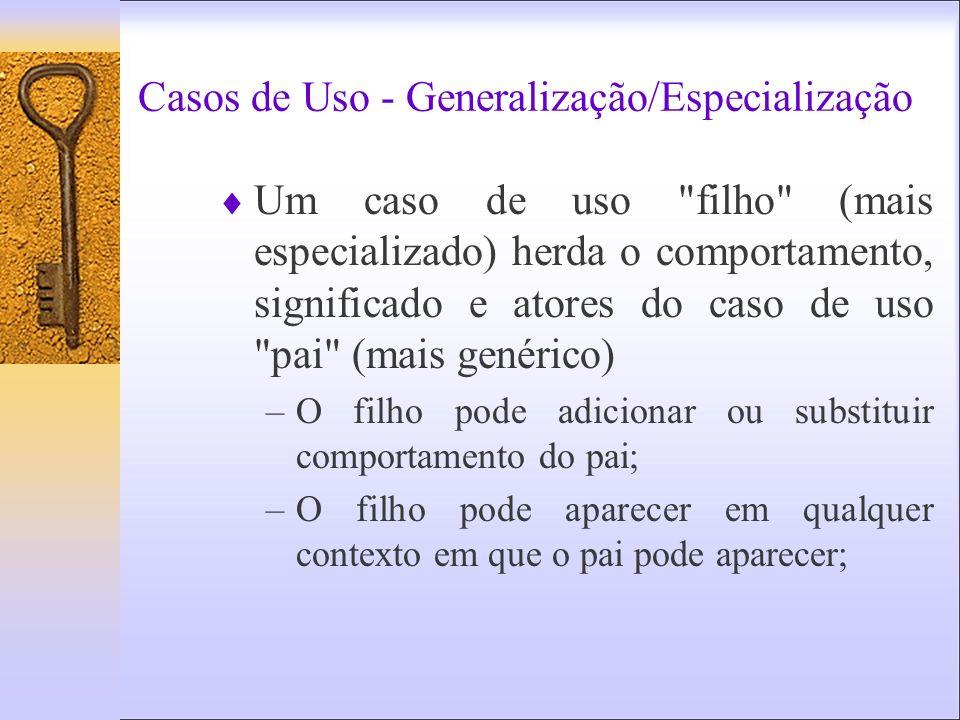 Casos de Uso - Generalização/Especialização Um caso de uso