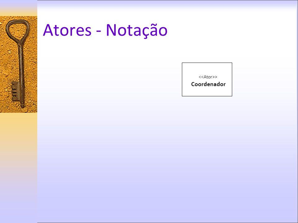 Atores - Notação > Coordenador