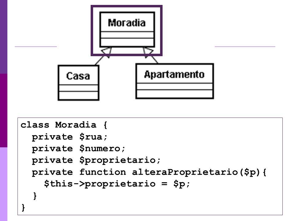 class Moradia { private $rua; private $numero; private $proprietario; private function alteraProprietario($p){ $this->proprietario = $p; } }