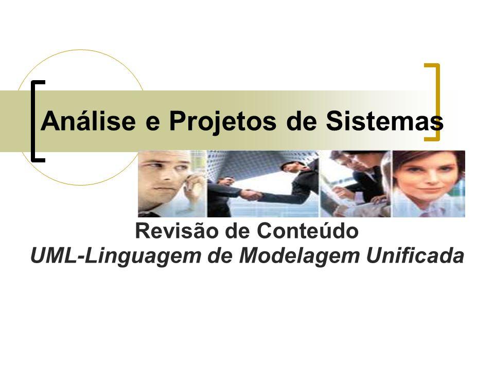 Análise e Projetos de Sistemas Revisão de Conteúdo UML-Linguagem de Modelagem Unificada