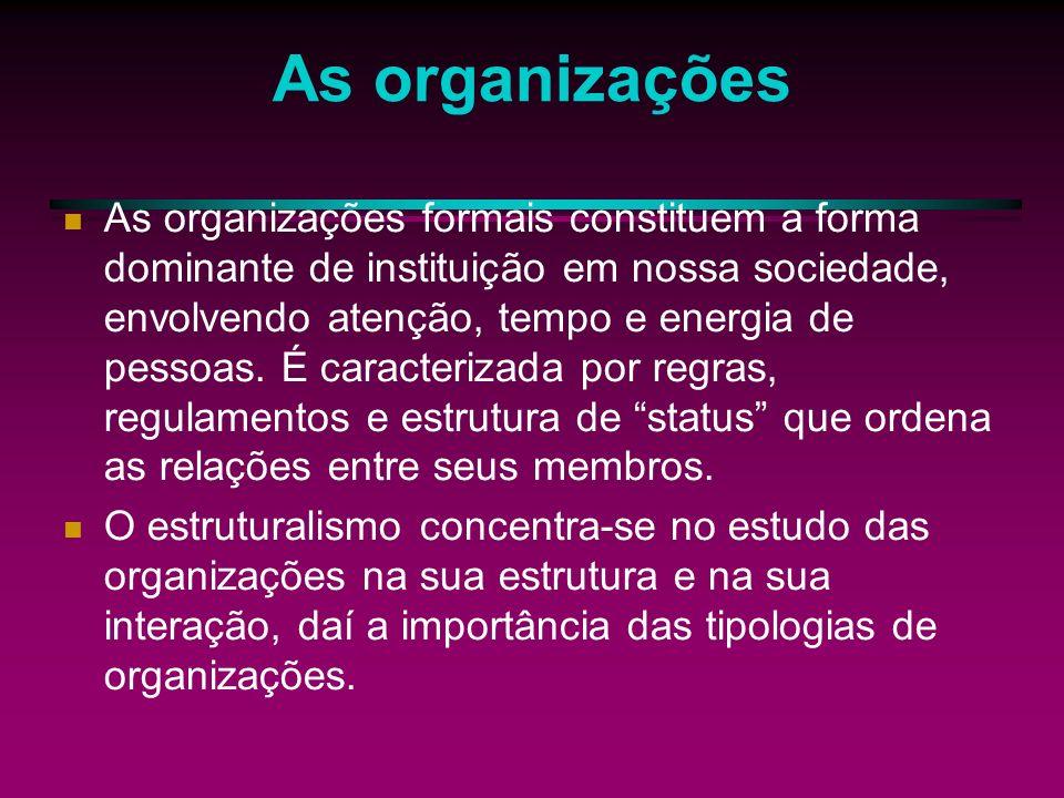 Teoria Estruturalista Para Etizioni existem quatro etapas de desenvolvimento.