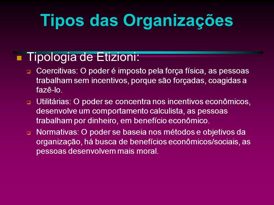 As organizações As organizações formais constituem a forma dominante de instituição em nossa sociedade, envolvendo atenção, tempo e energia de pessoas.