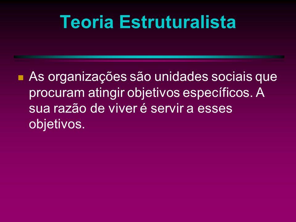 Objetivos segundo Perrow Objetivos Derivados: São os usos que a organização faz do poder originado na consecução de outros objetivos (metas políticas, serviços comunitários, etc.)