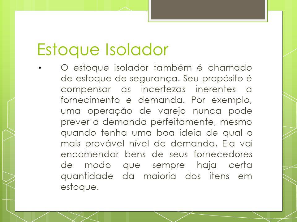 Estoque Isolador O estoque isolador também é chamado de estoque de segurança.