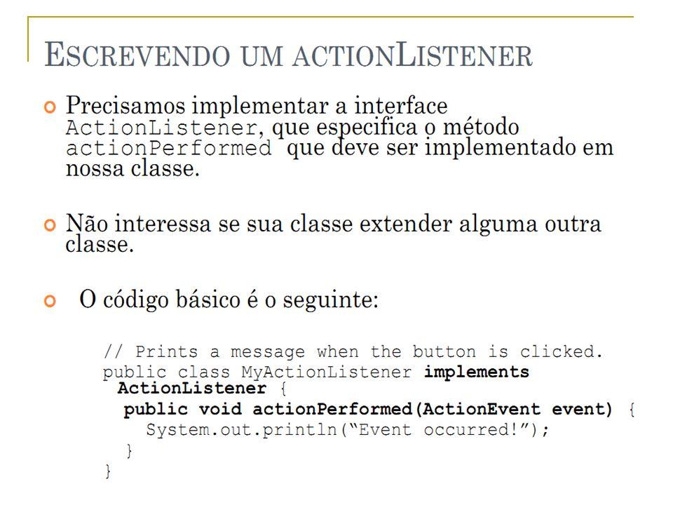 Prof.: Sergio Pacheco Eventos - Implementar 12