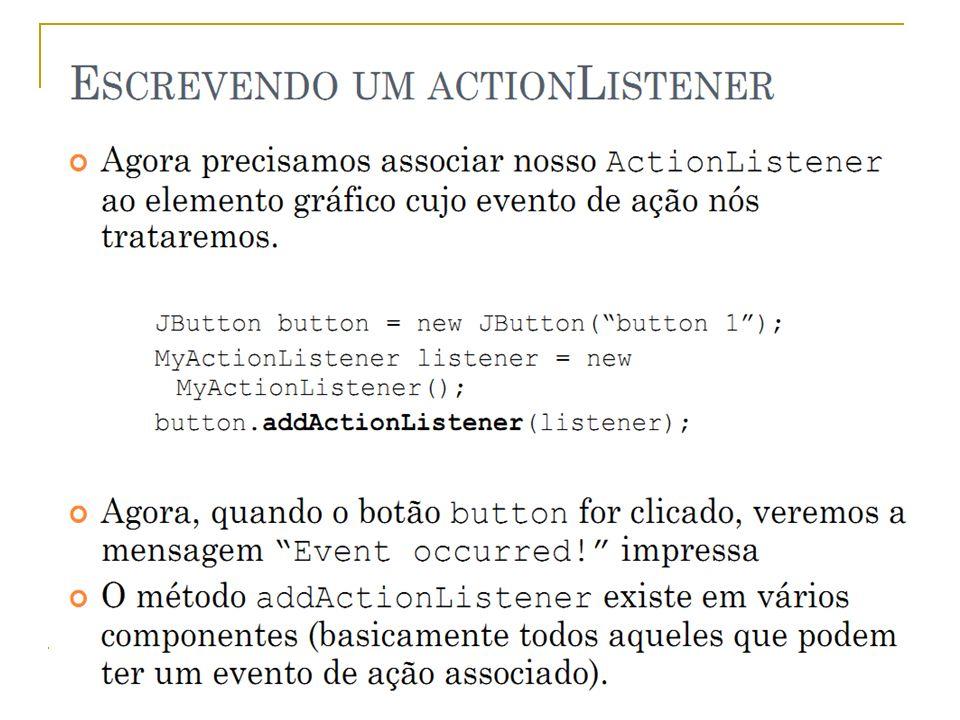 Prof.: Sergio Pacheco Eventos - Implementar 13