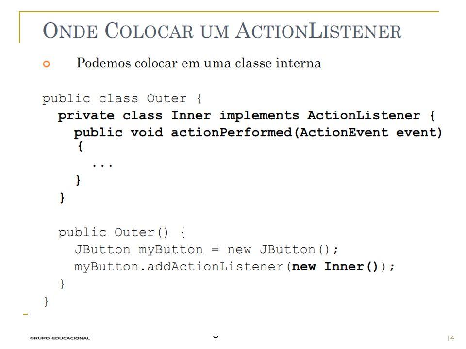 Prof.: Sergio Pacheco Eventos - Implementar 14