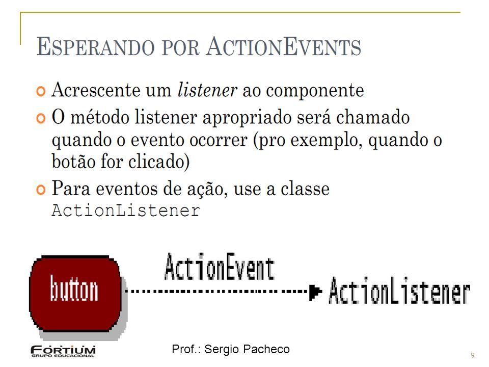 Prof.: Sergio Pacheco Eventos - Hierarquia 9