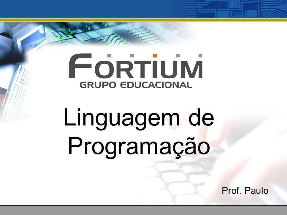 Linguagem de Programação Prof. Paulo