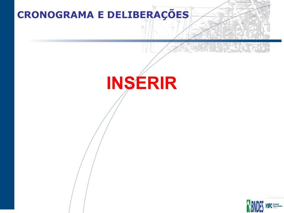 CRONOGRAMA E DELIBERAÇÕES INSERIR