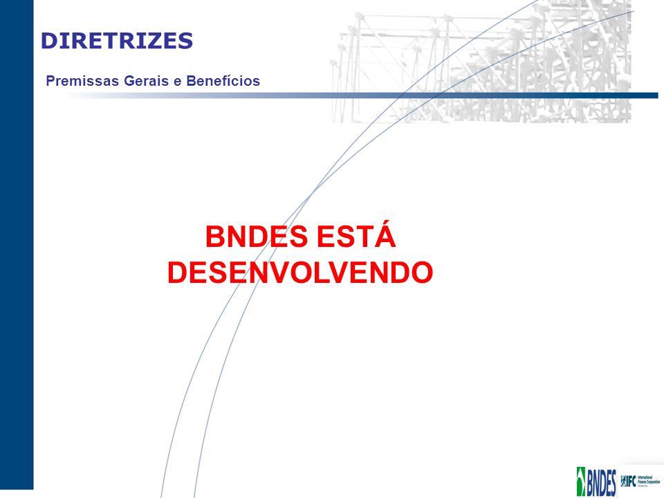 DIRETRIZES BNDES ESTÁ DESENVOLVENDO Premissas Gerais e Benefícios