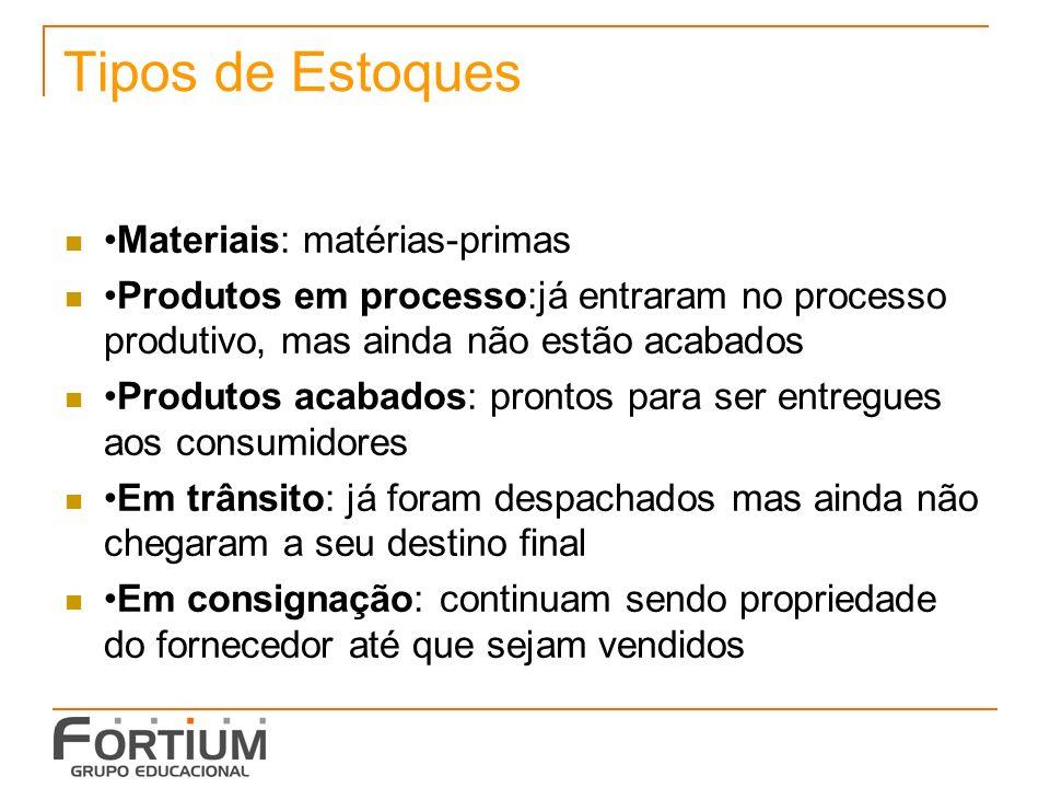 Gestão de Estoques Indicadores de produtividade na análise e controle de estoques: Diferenças entre o inventário físico e o contábil.