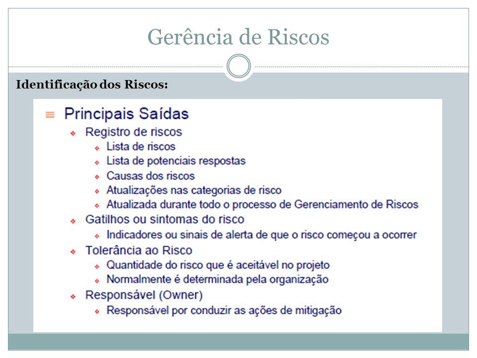 Monitoramento e Controle de Riscos: Gerência de Riscos