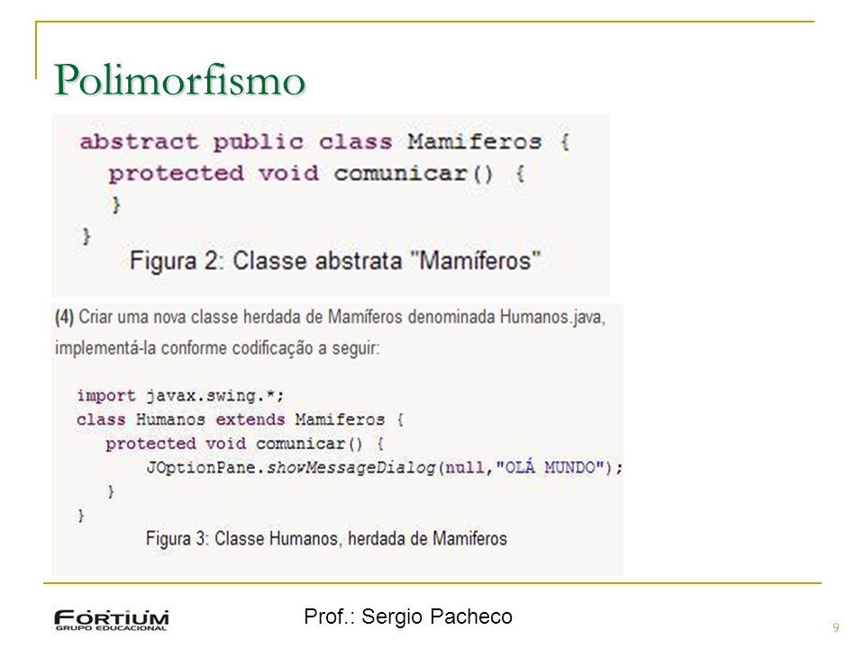 Prof.: Sergio Pacheco Polimorfismo 9