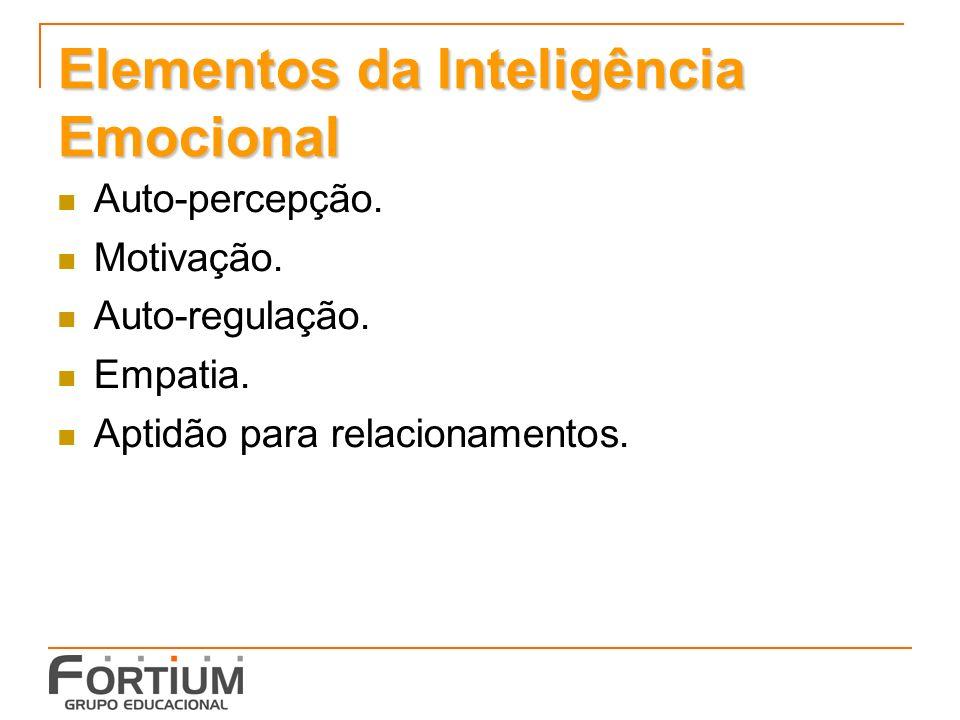 Elementos da Inteligência Emocional Auto-percepção.