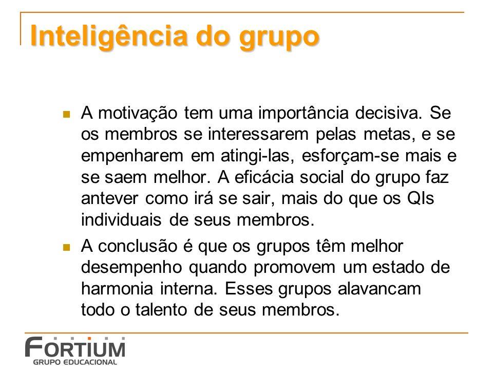 Inteligência do grupo A motivação tem uma importância decisiva.