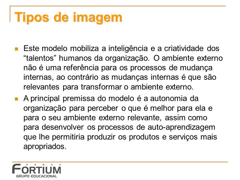Tipos de imagem Este modelo mobiliza a inteligência e a criatividade dos talentos humanos da organização.