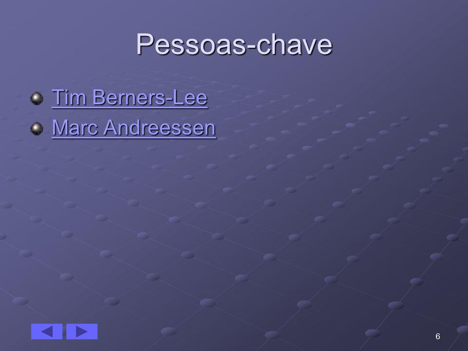 6 Pessoas-chave Tim Berners-Lee Tim Berners-LeeTim Berners-LeeTim Berners-Lee Marc Andreessen Marc AndreessenMarc AndreessenMarc Andreessen