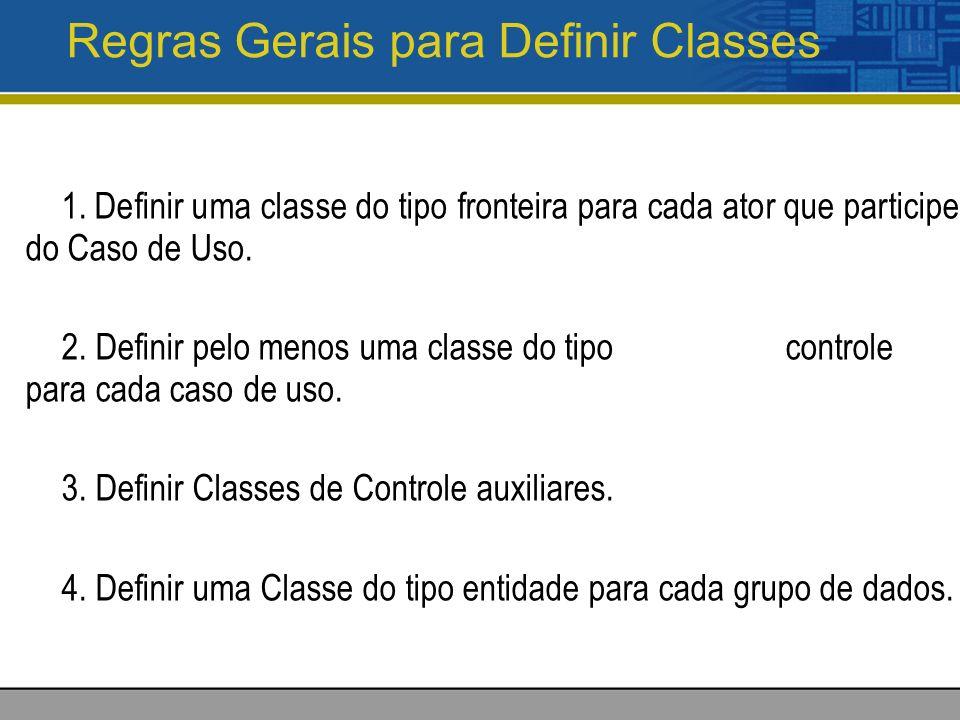 Regras Gerais para Definir Classes 1.