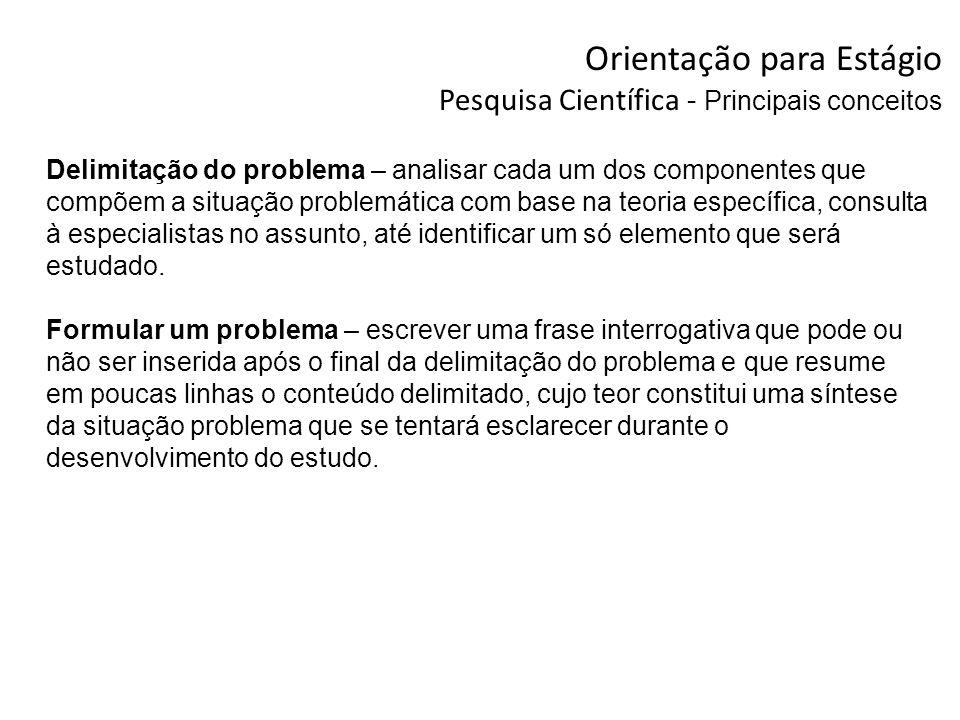 Delimitação do problema – analisar cada um dos componentes que compõem a situação problemática com base na teoria específica, consulta à especialistas