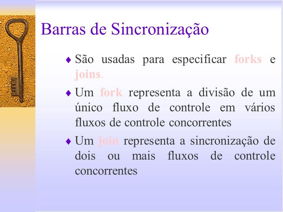 Barras de Sincronização Os sincronizadores são utilizados para indicar o início e o término de processos paralelos.