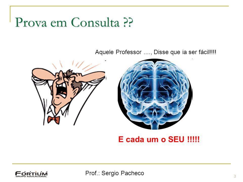 Prof.: Sergio Pacheco Revisão - Inserção em árvore binária 54 Exemplo: Exemplo: 14 15 4 9 7 18 3 5 16 4 20 17 9 14 5.