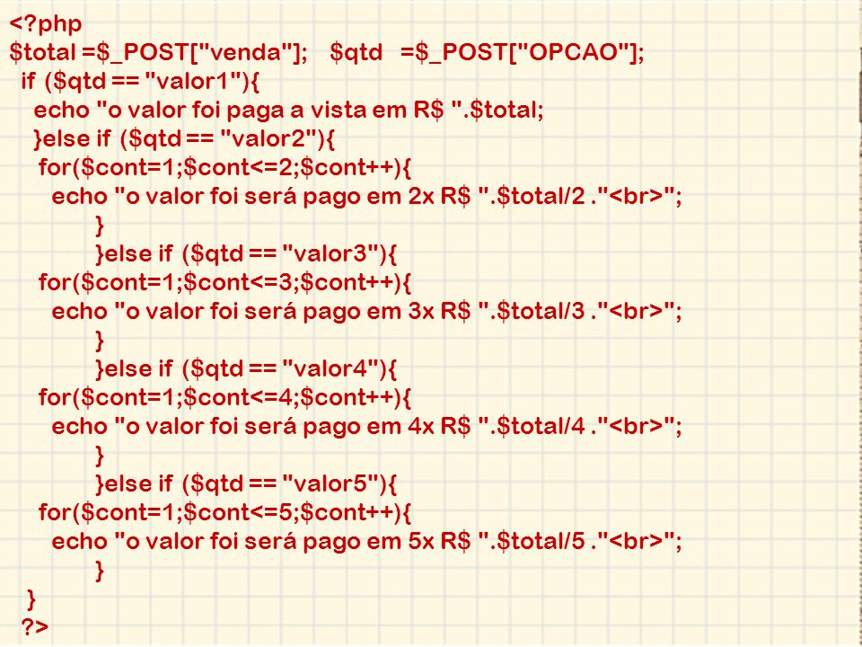 <?php $total =$_POST[