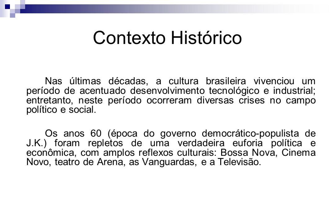 Contexto Histórico Nas últimas décadas, a cultura brasileira vivenciou um período de acentuado desenvolvimento tecnológico e industrial; entretanto, n