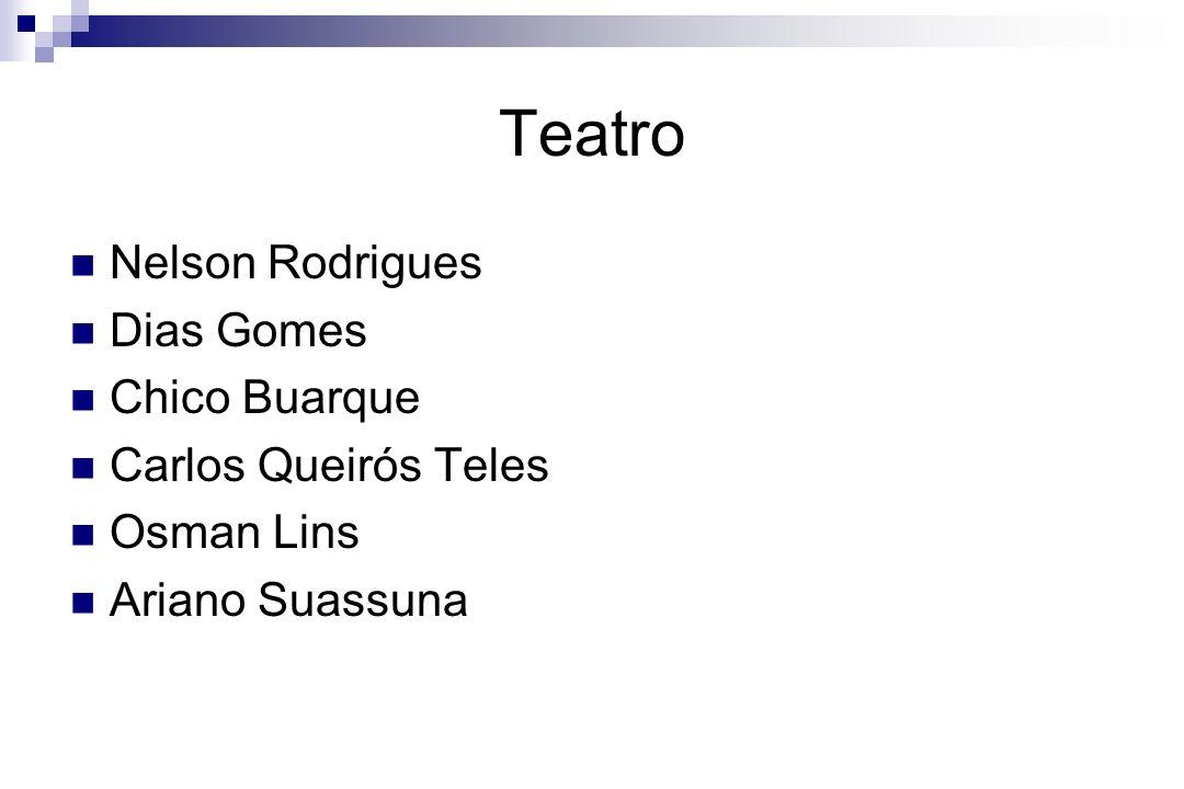 Teatro Nelson Rodrigues Dias Gomes Chico Buarque Carlos Queirós Teles Osman Lins Ariano Suassuna