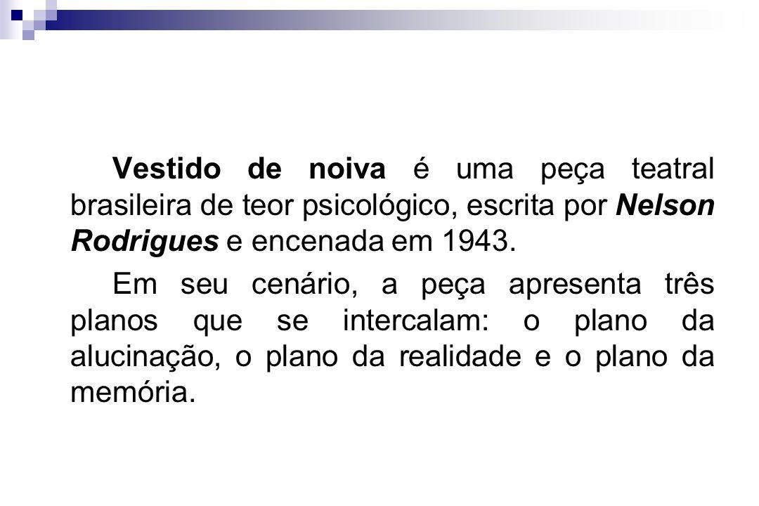 Vestido de noiva é uma peça teatral brasileira de teor psicológico, escrita por Nelson Rodrigues e encenada em 1943. Em seu cenário, a peça apresenta