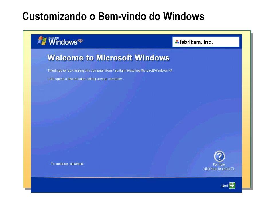 Customizando o Bem-vindo do Windows