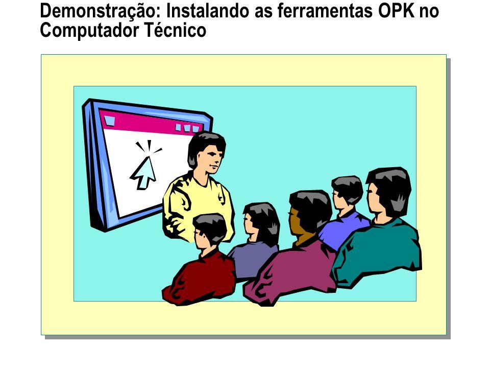 Demonstração: Instalando as ferramentas OPK no Computador Técnico