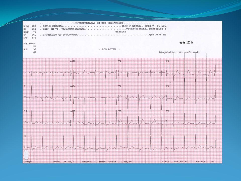 Alterações Imediatas: Glicemia, GB, Potássio, ECG, Gasometria, Amilase (inconstante).