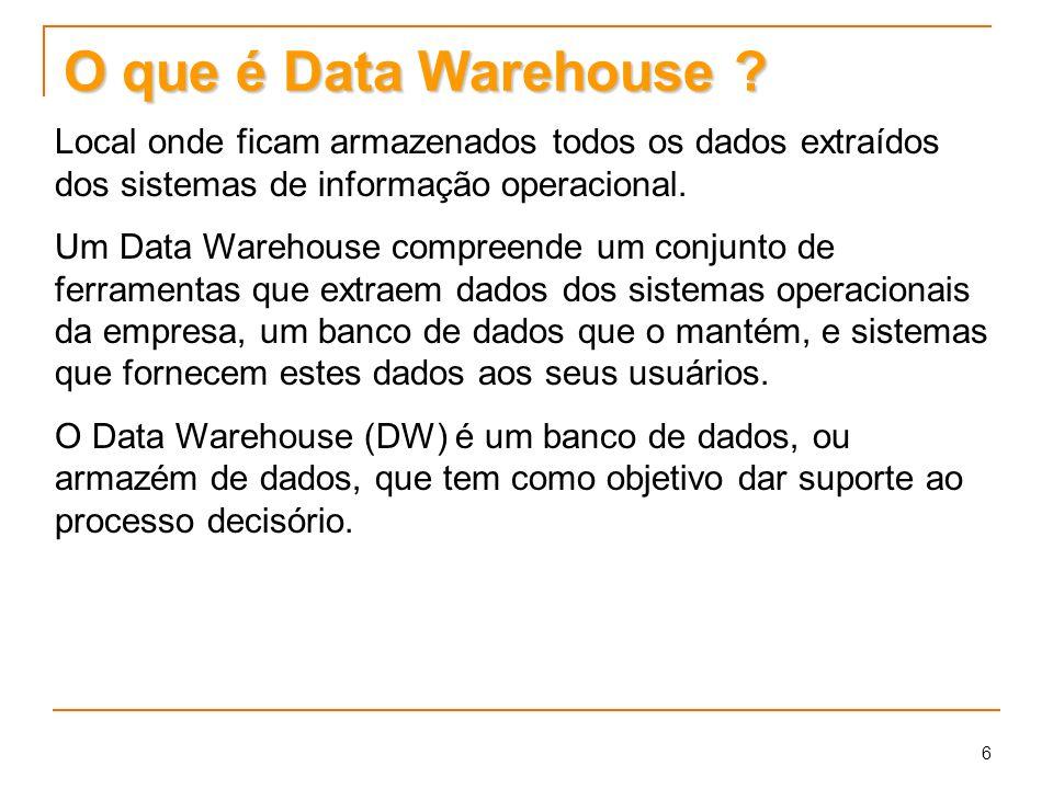 6 O que é Data Warehouse .