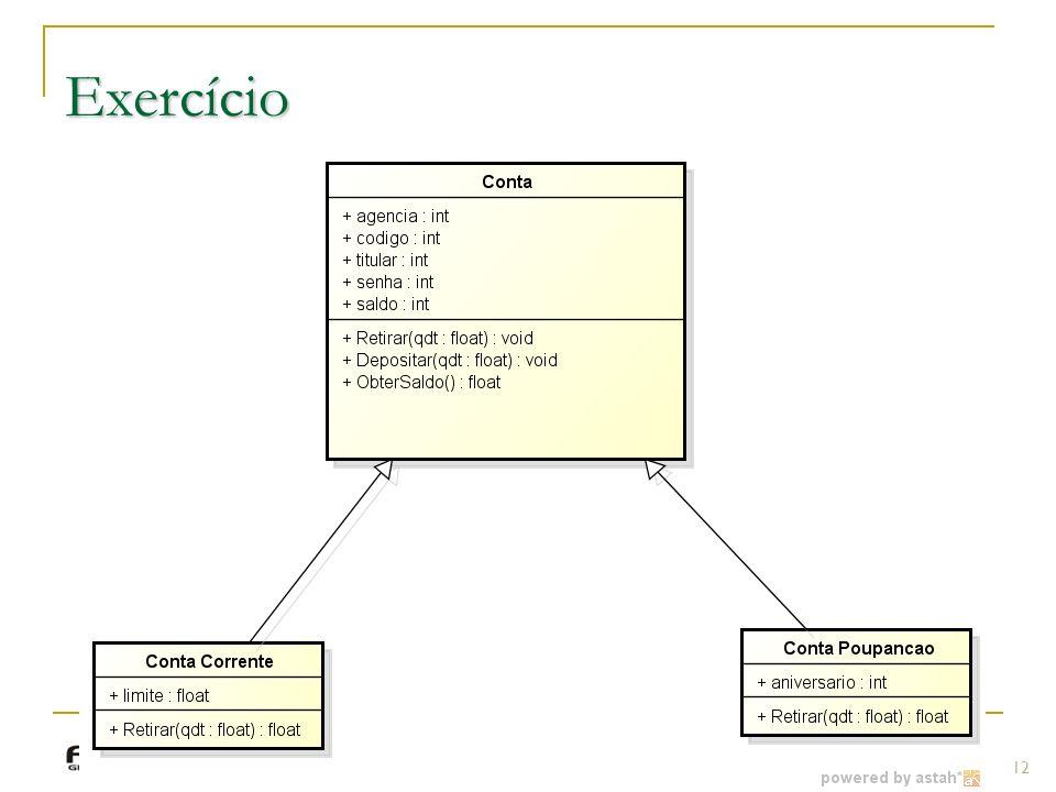 Prof.: Sergio Pacheco Exercício 12