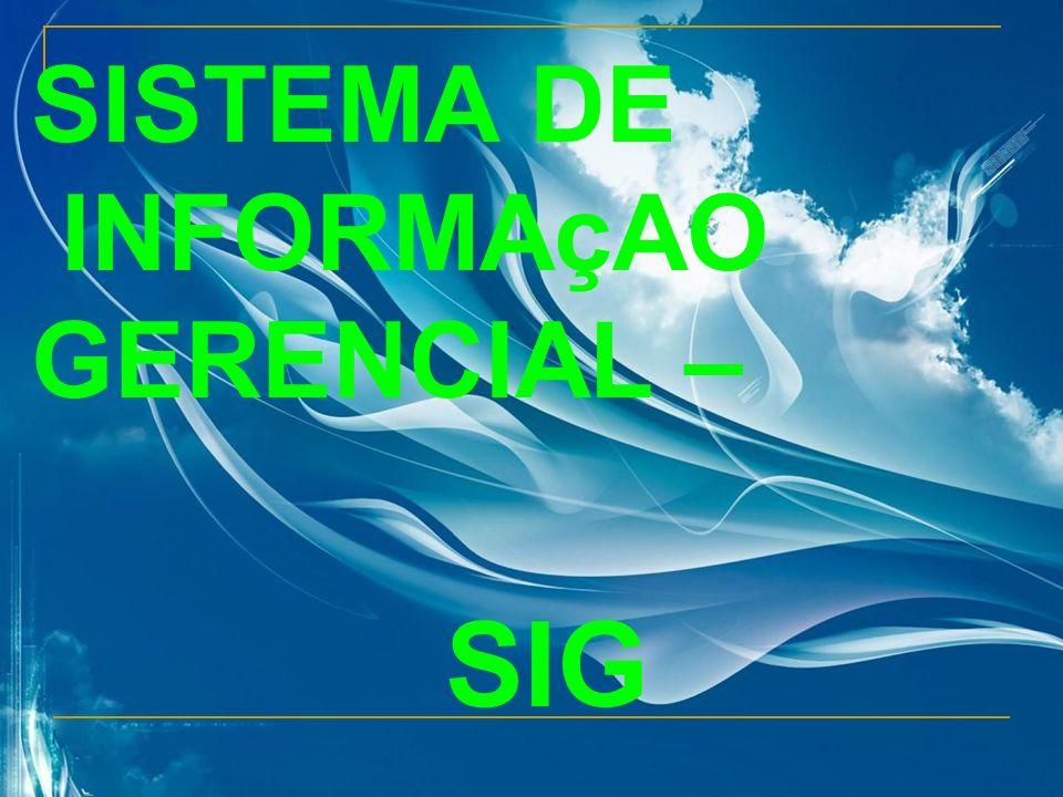 SISTEMA DE INFORMAçAO GERENCIAL – SIG