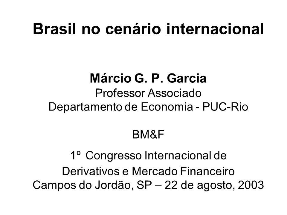 Brasil no cenário internacional Márcio G.P.