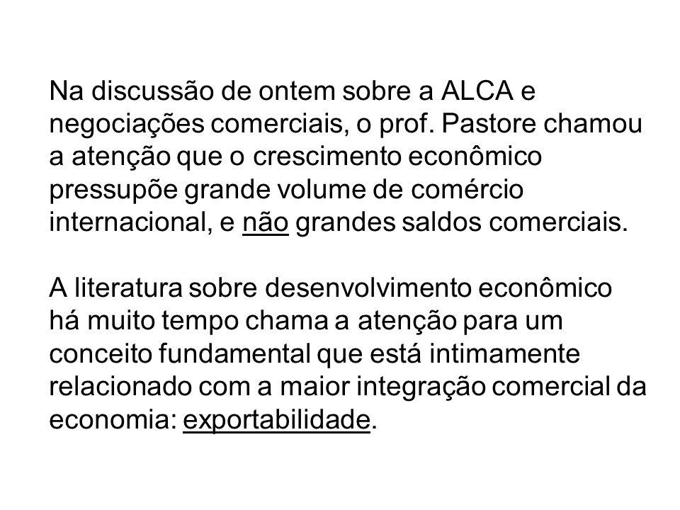Na discussão de ontem sobre a ALCA e negociações comerciais, o prof.