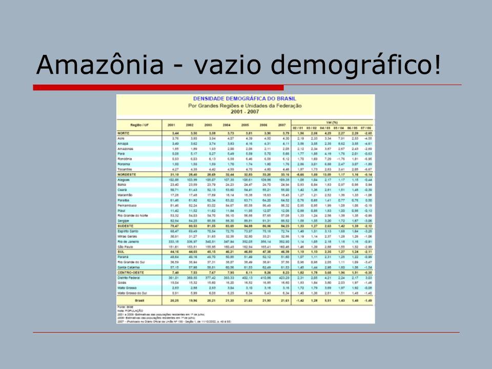 Amazônia - vazio demográfico!