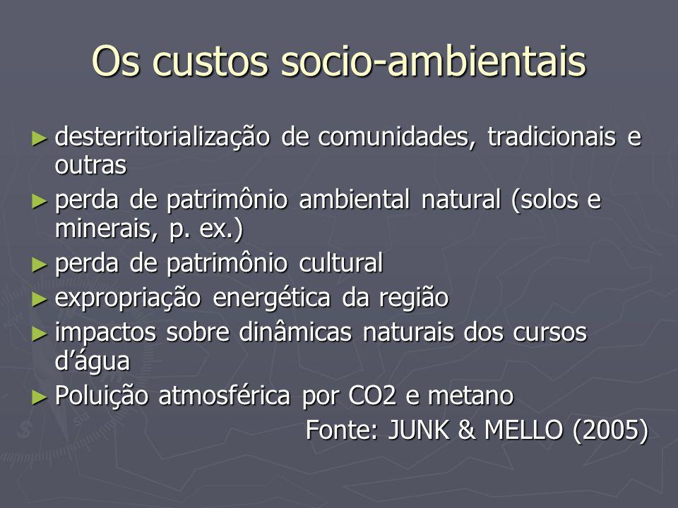 Os custos socio-ambientais desterritorialização de comunidades, tradicionais e outras desterritorialização de comunidades, tradicionais e outras perda