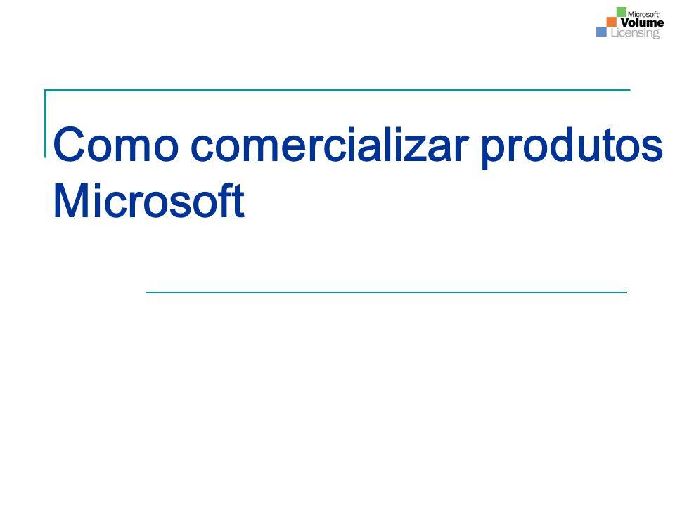 Quais as formas de comercialização dos produtos Microsoft.