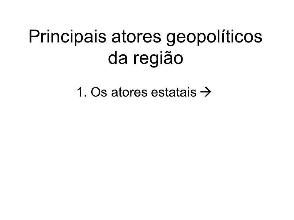 Principais atores geopolíticos da região 1. Os atores estatais