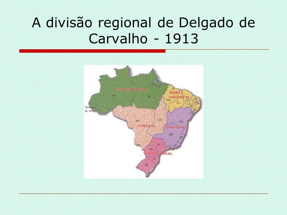 A divisão regional do Conselho Nacional de Estatística - 1938