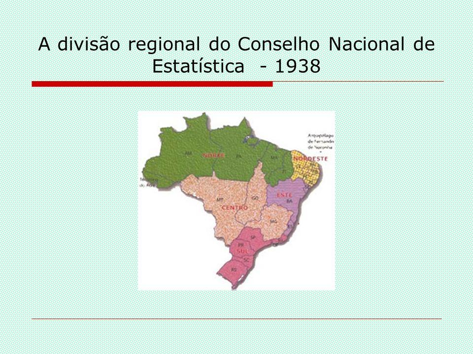 A divisão Regional do Conselho Nacional de Estatística – 1941/1945